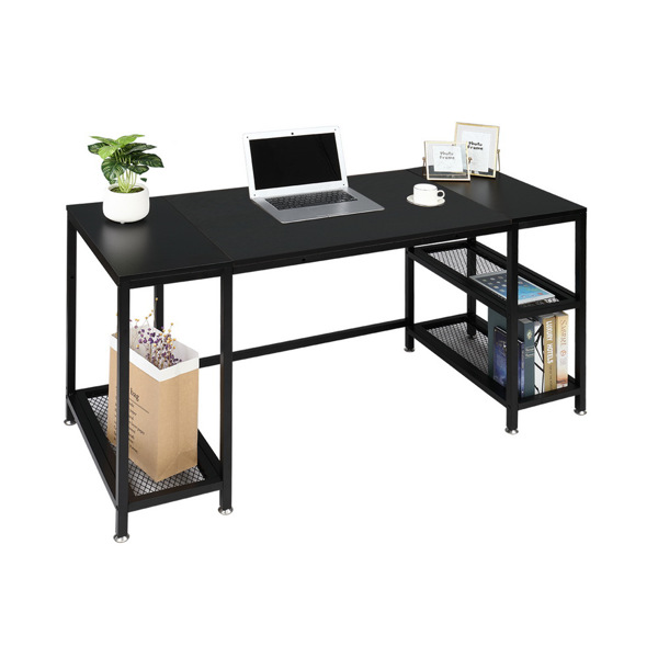 FCH Study Computer Desk Home Office Writing Desk PC Table Black
