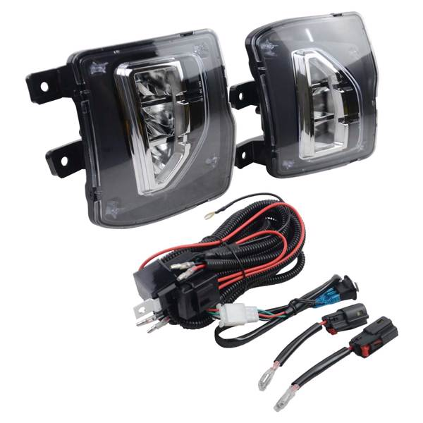 LED Front Bumper Fog Lights + wiring harness 84000613 84000614 fits for Chevrolet Silverado 1500 2016-2018