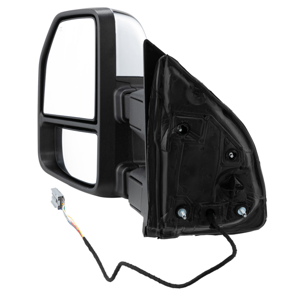For 1999-2016 Ford F250 F350 Power Heated Chrome Tow Side Mirrors w/ LED Signal