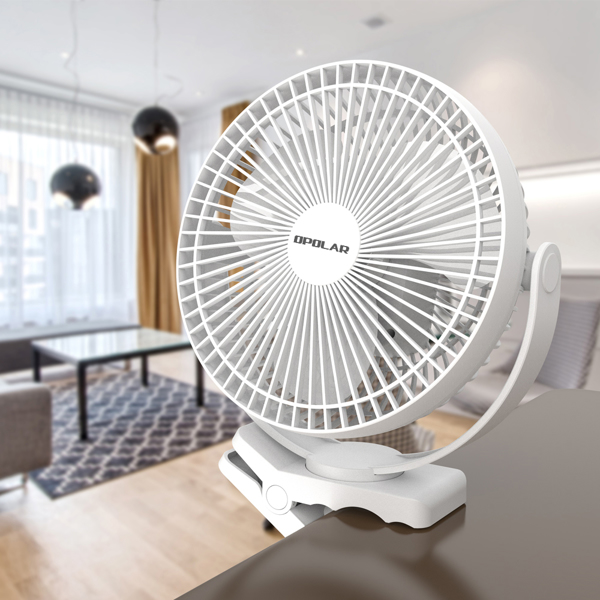 10000mAh Rechargeable Portable Fan, 8-Inch Battery Operated Clip on Fan, USB Fan, 4 Speeds, Strong Airflow, Sturdy Clamp for Personal Office Desk Golf Car Outdoor Travel Camping Tent Gym(亚马逊禁售)